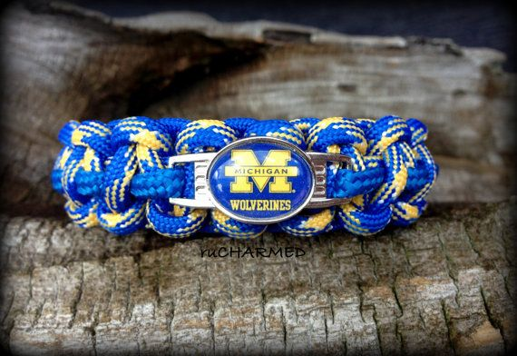 Michigan Wolverines Football Paracord Survival by ruCHARMED, $14.00