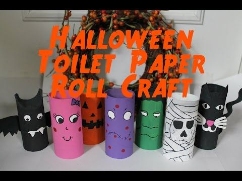 diy halloween decorations recycled toilet paper roll craft youtube - Youtube Halloween Crafts