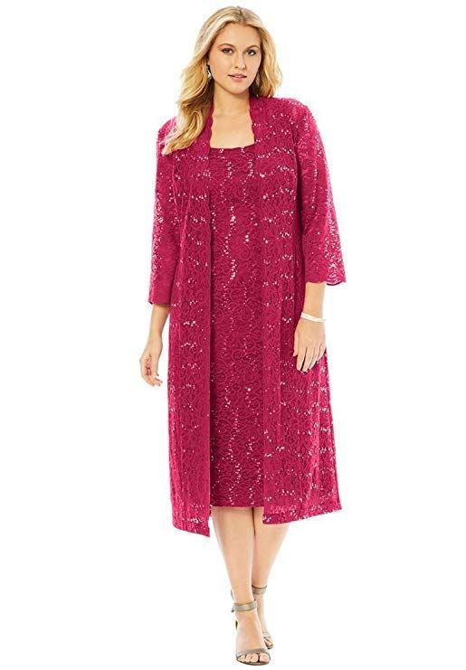 1956f6b1873 Roamans Women s Plus Size Flyaway Full Length Jacket Dress ...