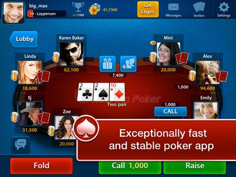 Celeb Poker is an iPad and iPhone online poker app that lets you play poker matches with other players around the world. The poker app brings the dynamism of playing real poker matches to your iOS device. Celeb Poker Free has a fast gameplay style designed to keep you entertained and put your poker skills to the test.