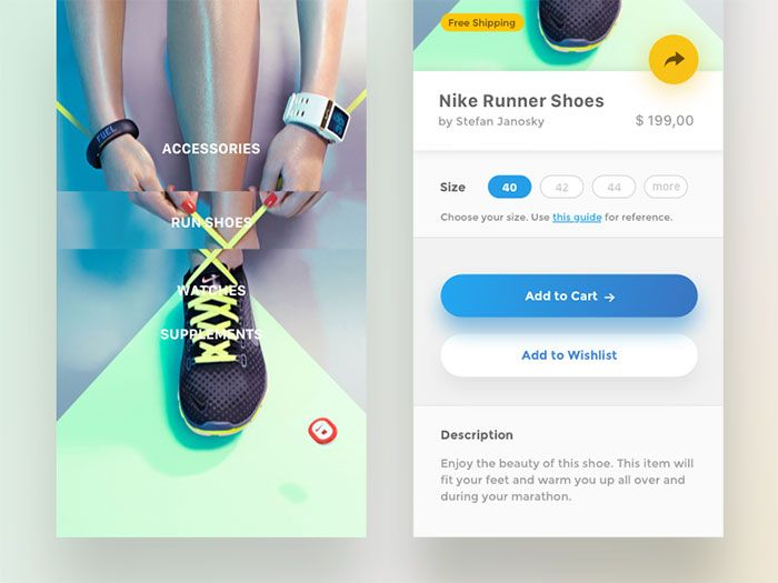 Menus And Buttons In Mobile Design – 45 Examples