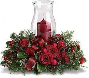 Christmas centerpiece candles