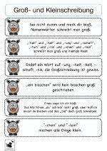 Rechtschreibung ist ein Dauerbrenner in allen Klassen.Diese Material enthält 27 Merksätze/Sprüche/Eselsbrücken zur richtigen Schreibung (z.B. Groß- und Kleinschreibung, Wörter mit ck, tz, Auslautverhärtung, etc.).Merksätze, die sich reimen, sind besonders eingängig und effizient.Diese können entweder abgeschrieben oder auch ausgeschnitten und in die Hefte eingeklebt werden.