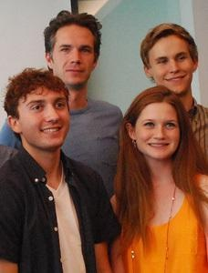 James D'Arcy with Bonnie Wright, Rhys Wakefield and Daryl Sabara