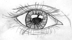 Bleistiftzeichnung Auge