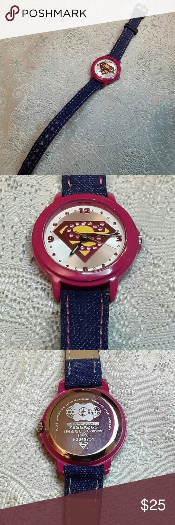 DC Collectible Supergirl/Superman watch Parting with my Supergirl watch. Used and in good condition. DC/Clicks Worldwide   Accessories Watches