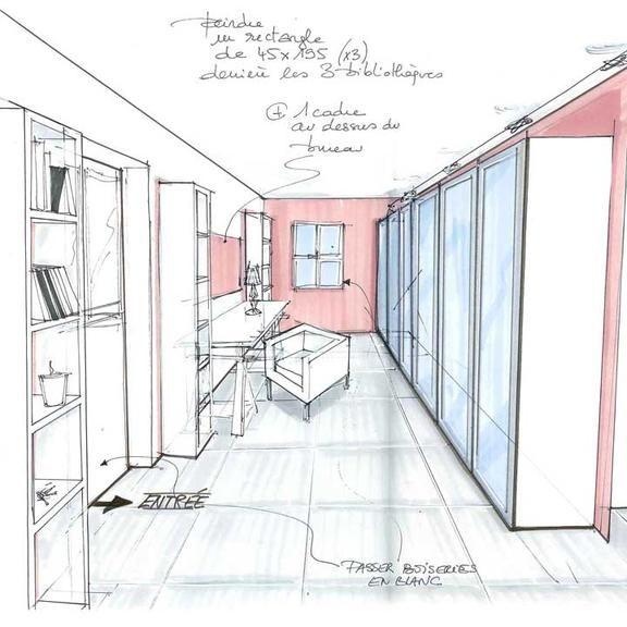 Les 25 meilleures id es de la cat gorie croquis architecte for Apprendre a dessiner une maison en perspective