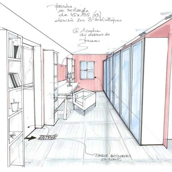 Les relookings d co de sophie ferjani d coratrice de l for Dessin architecture interieur