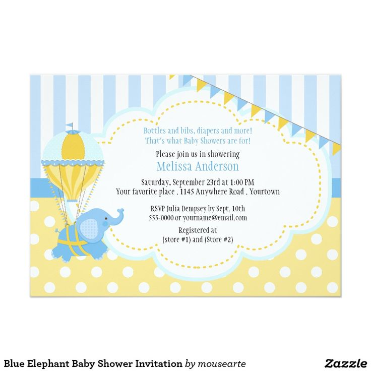 65 best blue elephantu0027s party images on Pinterest Elephants - fresh invitation for birthday party by email