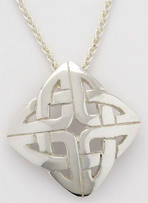 Square Ogham Celtic Knot Pendant