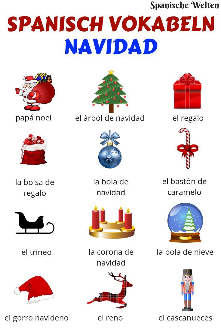 spanisch vokabeln weihnachten spanish spanisch. Black Bedroom Furniture Sets. Home Design Ideas