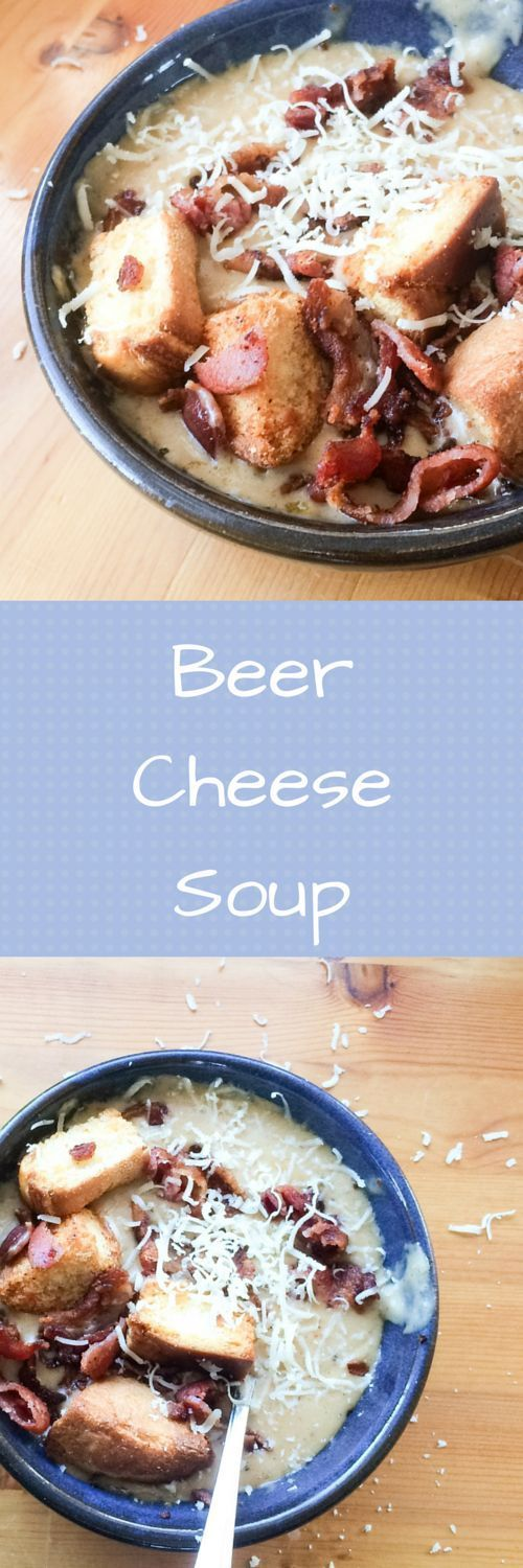 Beer Cheese Soup A wintertime favorite soup recipe, Beer cheese soup is a comfort food favorite.  There is nothing like a creamy, piping hot bowl of beer cheese soup especially one topped with bacon.