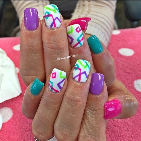Bright+Colors!+by+Nailsbytohnnie+-+Nail+Art+Gallery+nailartgallery.nailsmag.com+… – Painted nails
