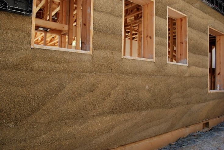 Hempcrete, Made From Hemp, Used To Build Houses & stronger than concrete. Offers a negative carbon footprint because of its absorption of CO2. #TN4Hemp