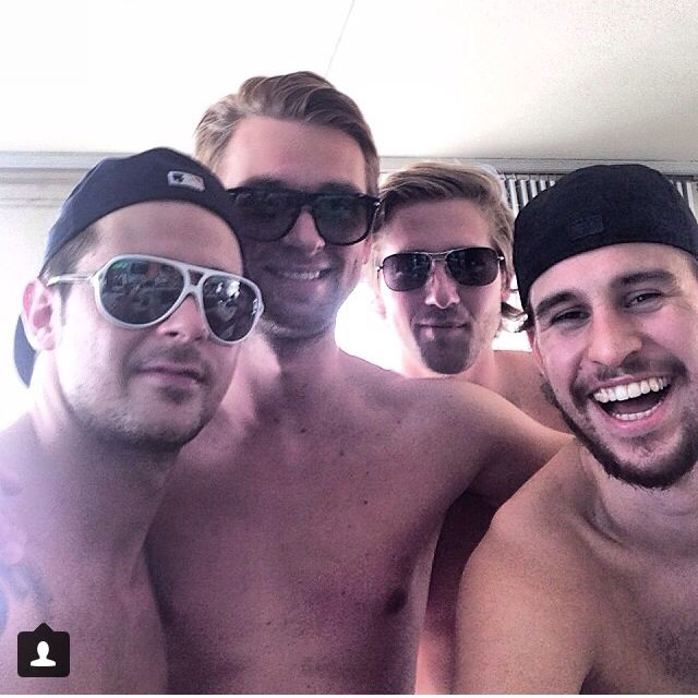Tomas Tatar, Jakub Kindl, Darren Helm and Brendan Smith from the Detroit Red Wings. Nice.
