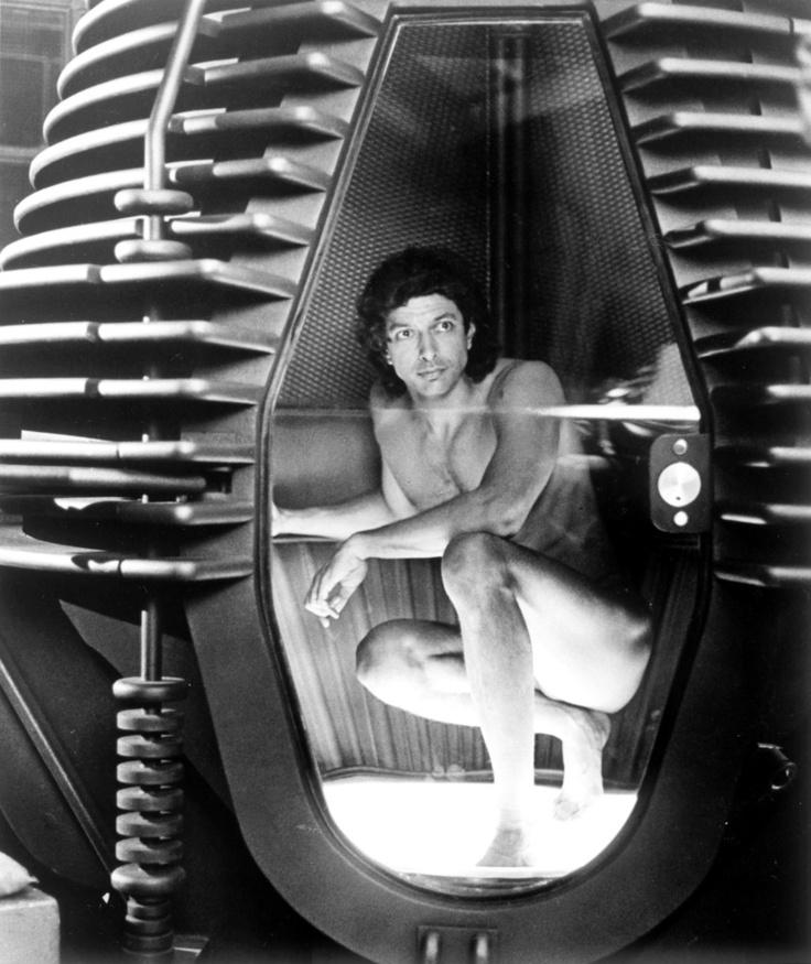 Jeff Goldblum dans La mouche.