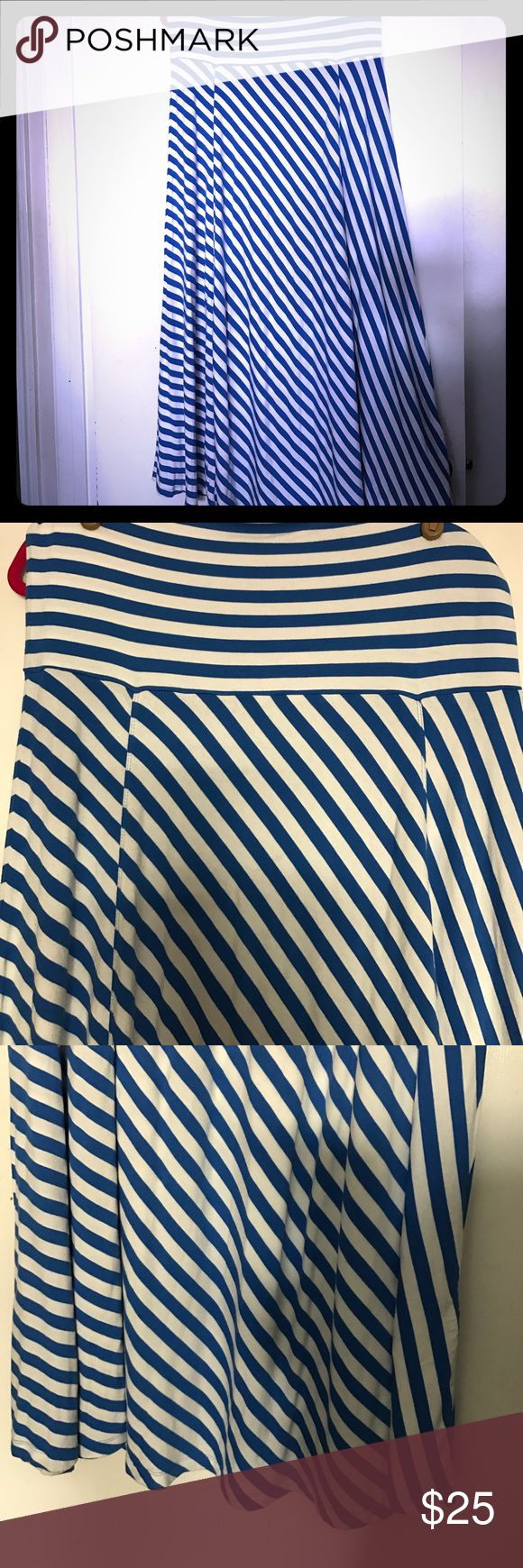 GAP Royal blue striped maxi skirt Royal blue maxi skirt 💙💙💙 Good condition. 👌🏾 GAP Skirts Maxi