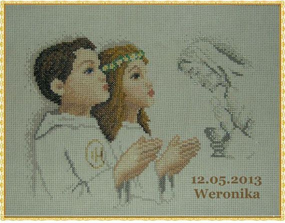 Holy Communion. Picture of baby souvenir Gifts.Heilige by Anetmoda