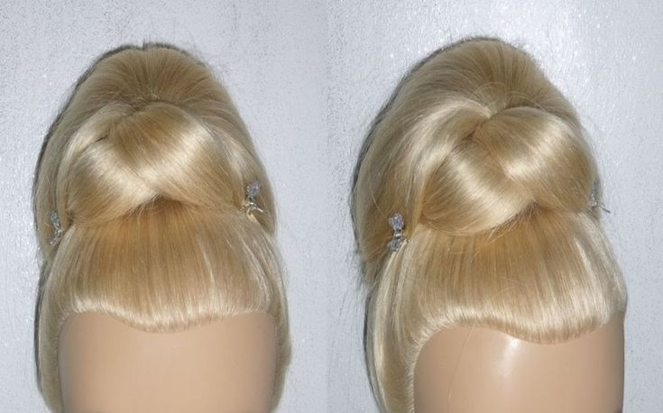 Quick and Easy Evening Prom/Wedding Hairstyle. Elegant Hair Bun Updo for...