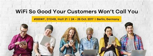 Zyxel to show Managed WiFi Solution for service providers at Broadband World Forum 2017
