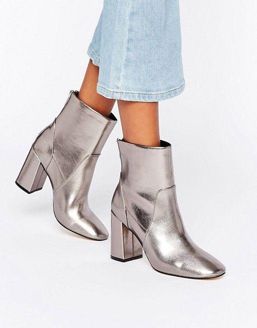 New Look | New Look Metallic Heeled Ankle Boot