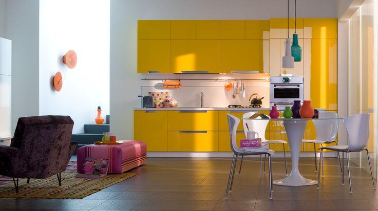 cuisine ikea jaune et noir appartementero cuisine ik a blanc bleu kitchen. Black Bedroom Furniture Sets. Home Design Ideas
