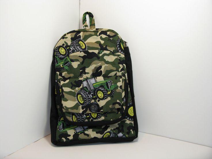John Deere in Tan Camo Preschool Backpack by GiftsByAnnie on Etsy https://www.etsy.com/listing/114267207/john-deere-in-tan-camo-preschool