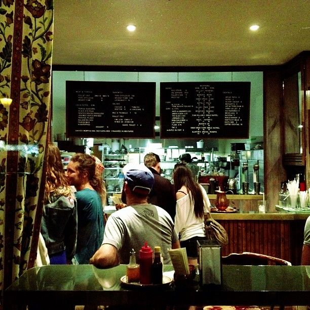 Dinette Triple Crown in Montreal, QC - a few seats for eating inside, most patrons get their fried chicken thighs and meat 'n' threes packed in nifty picnic boxes and take them to the Little Italy park between La Main and Rue Clark