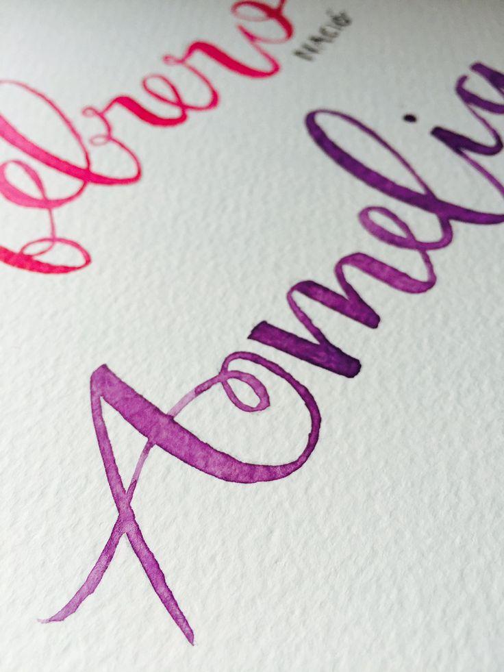 Acuarela y grafito. #acuarela #watercolor #ilustracion #dibujo #lettering #letras #caligrafia