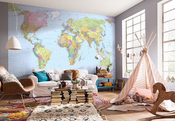 Fototapete Vliestapete Weltkarte