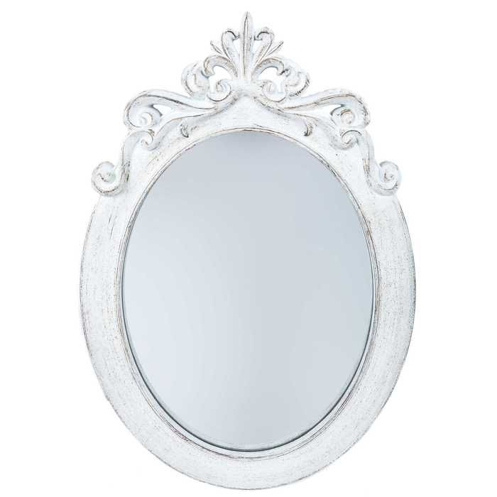 Get Distressed White Styrene Ornate Oval Mirror online or find other Wall Mirrors products from HobbyLobby.com