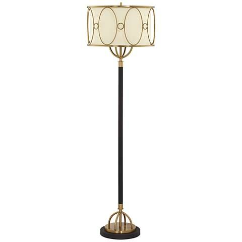 Gizelle Powdercoated Black and Antique Brass Floor Lamp - #18W46 | Lamps Plus