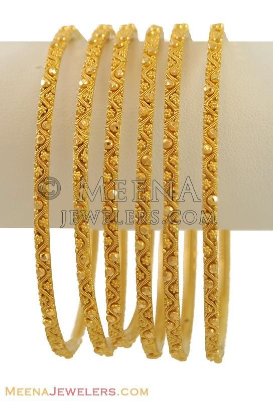 22K Gold Bangles (2 Pcs only) ( Set of Bangles )