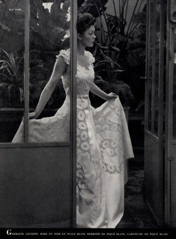 Germaine Lecomte 1939 Evening Gown, Embroidery