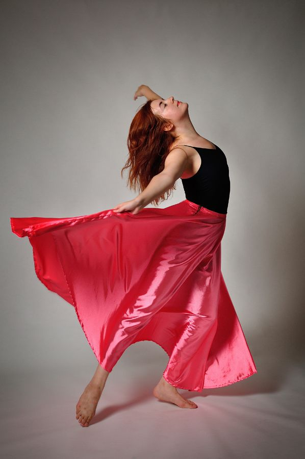 woman dances with passion - skirt, indoor