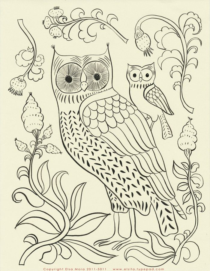 lovely embroidery patternsOwls Pattern, Elsa Mora, Embroidery Patterns, Free Pattern, Baby Owls, Free Embroidery, Owls Embroidery, Owls Crafts, Beautiful Owls