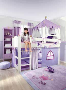 紫色的兒童房,滿足男孩女孩的各種浪漫幻想