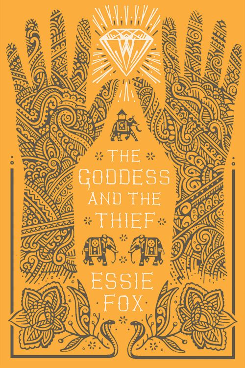THE GODDESS AND THE THIEF - book cover design by David Wardle.  Novel by Essie Fox.