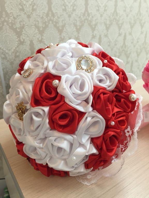 Купить Букеты брошь,браслетики для подружек невесты - букет невесты, цветы ручной работы