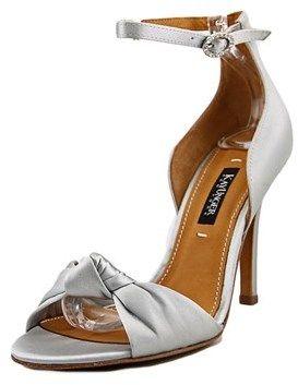 Kay Unger Conyer W Open-toe Canvas Slingback Heel.