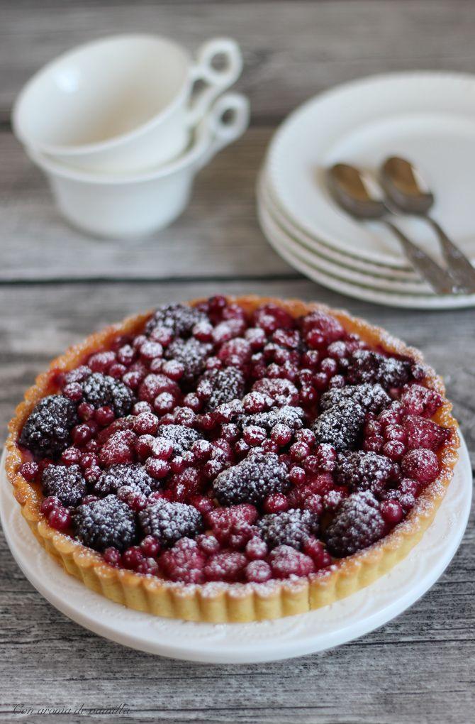 Receta de tarta de yogur y frutos rojos