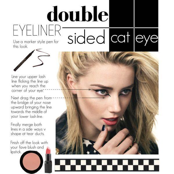 """""""Double Eyeliner: Double Sided Cat Eye"""" by hatzjeanz on Polyvore"""