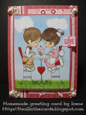Valentines Day Card With A Precious Moments Coloring Page