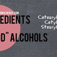 Ingredients 101: Good Alcohols For Hair by Just Grow Already! blog
