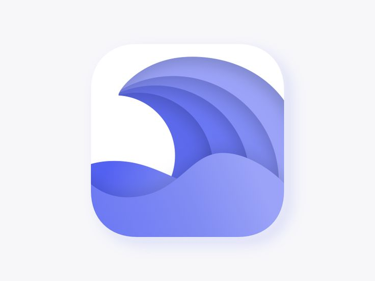 App Icon for Wave VPN by Allen Wang