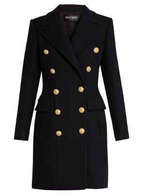 Double-breasted wool and cashmere-blend coat | Balmain | MATCHESFASHION.COM US