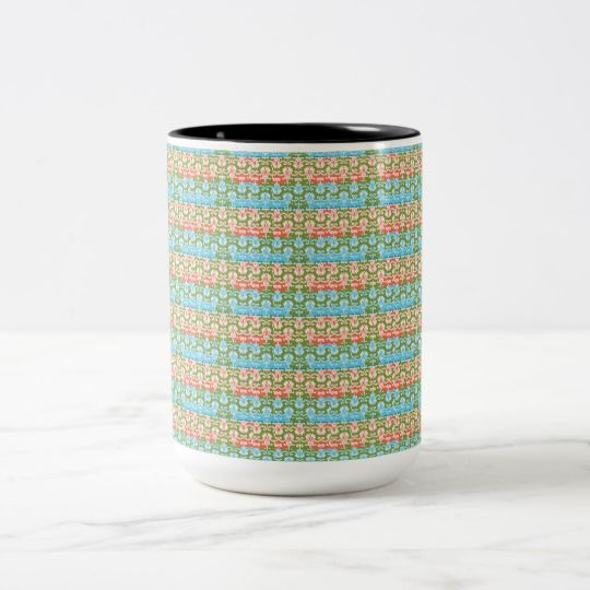 French Country-Vintage Delicate-Multi-Styles Two-Tone Coffee Mug #mugs #frenchcountry