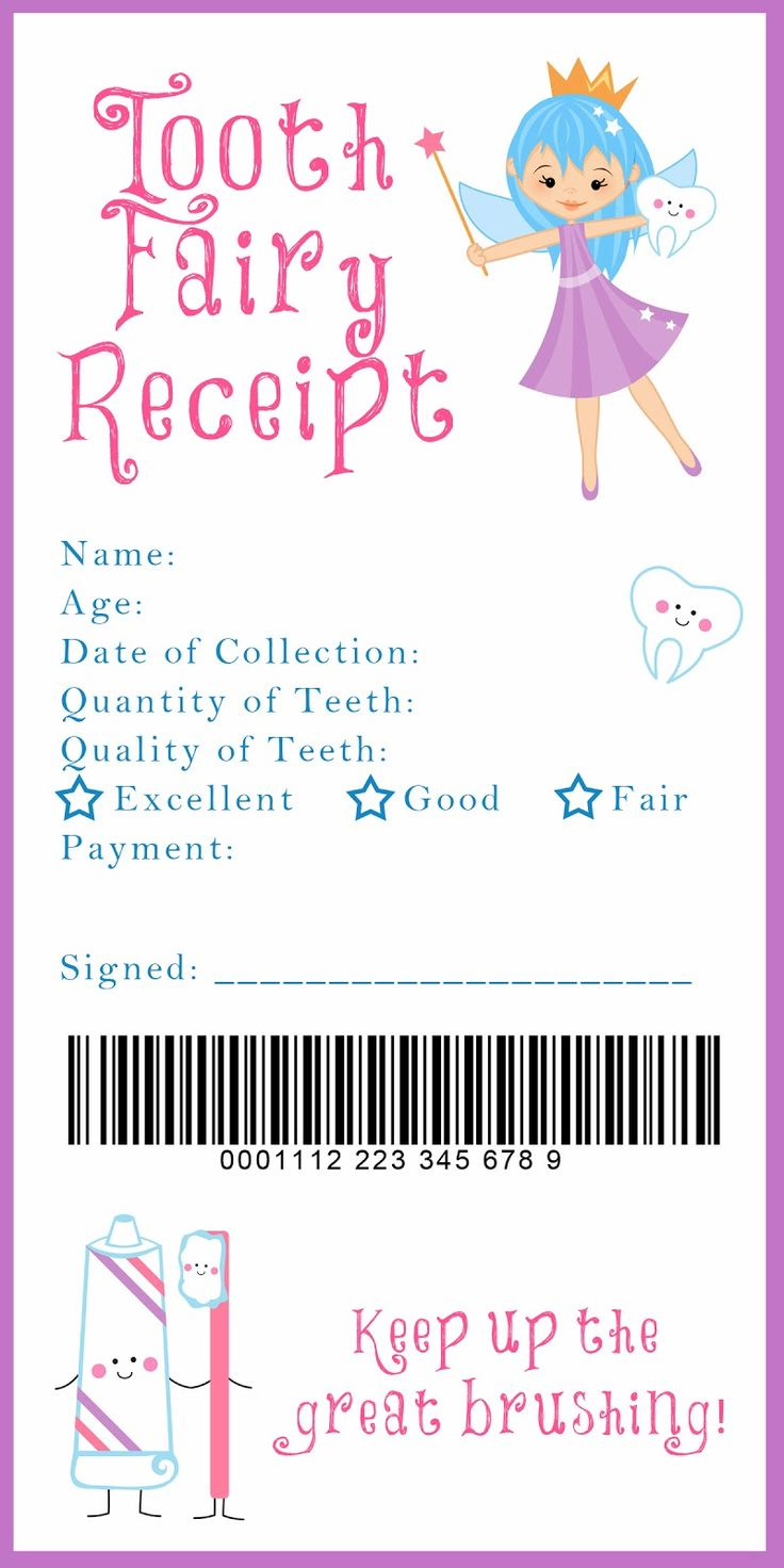 17 best ideas about babysitter printable tooth tooth fairy receipt and many other awesome printables