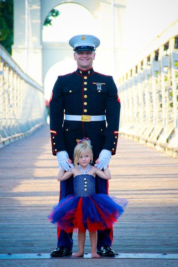 The Marine Brat United States Marine Inspired Tutu Dress