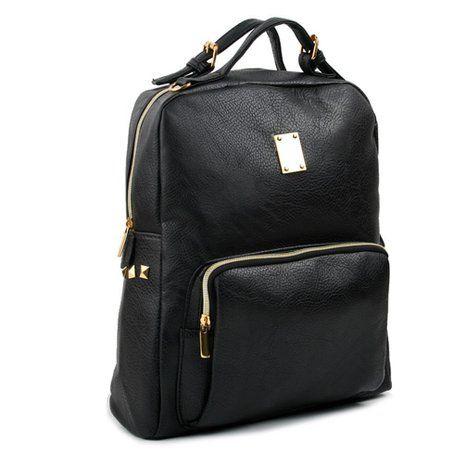 Amazon.com: Copi Women's Casual PU Leather Backpack Bag, Fashion Cute Backpacks for School Backpack Bluegreen: Clothing
